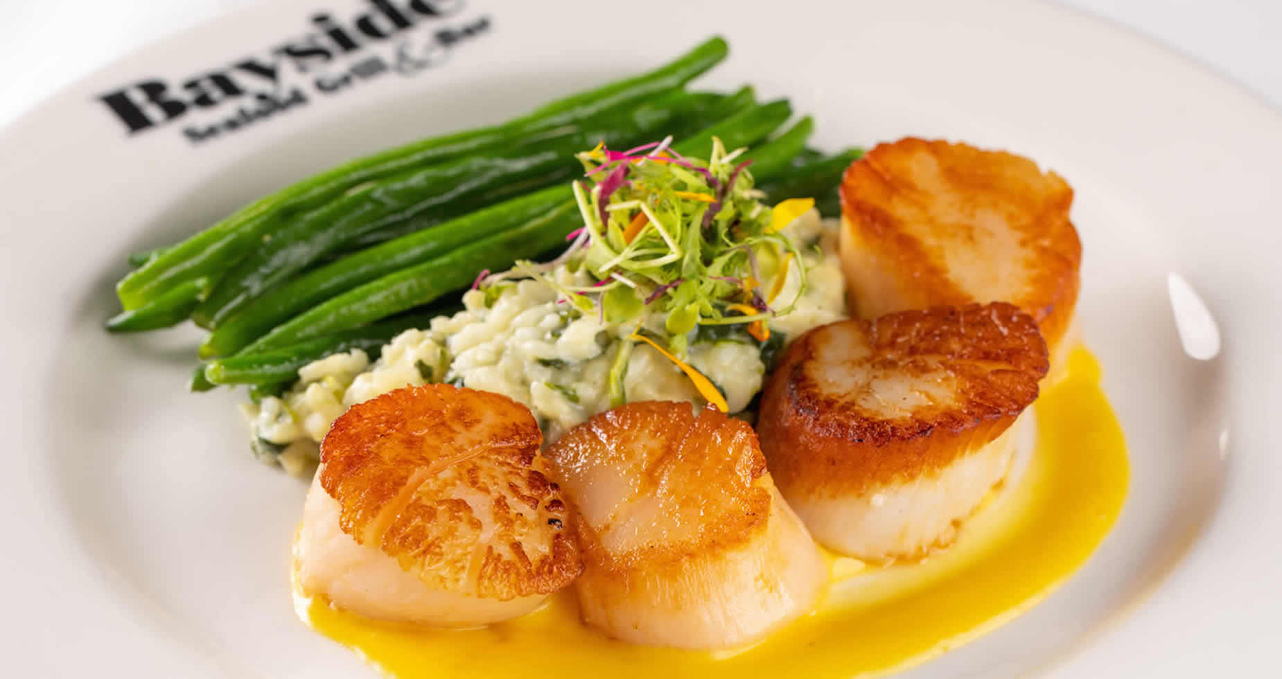 Sautéed Scallops Entree at Bayside