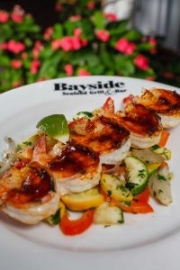Shrimp Skewers at Bayside