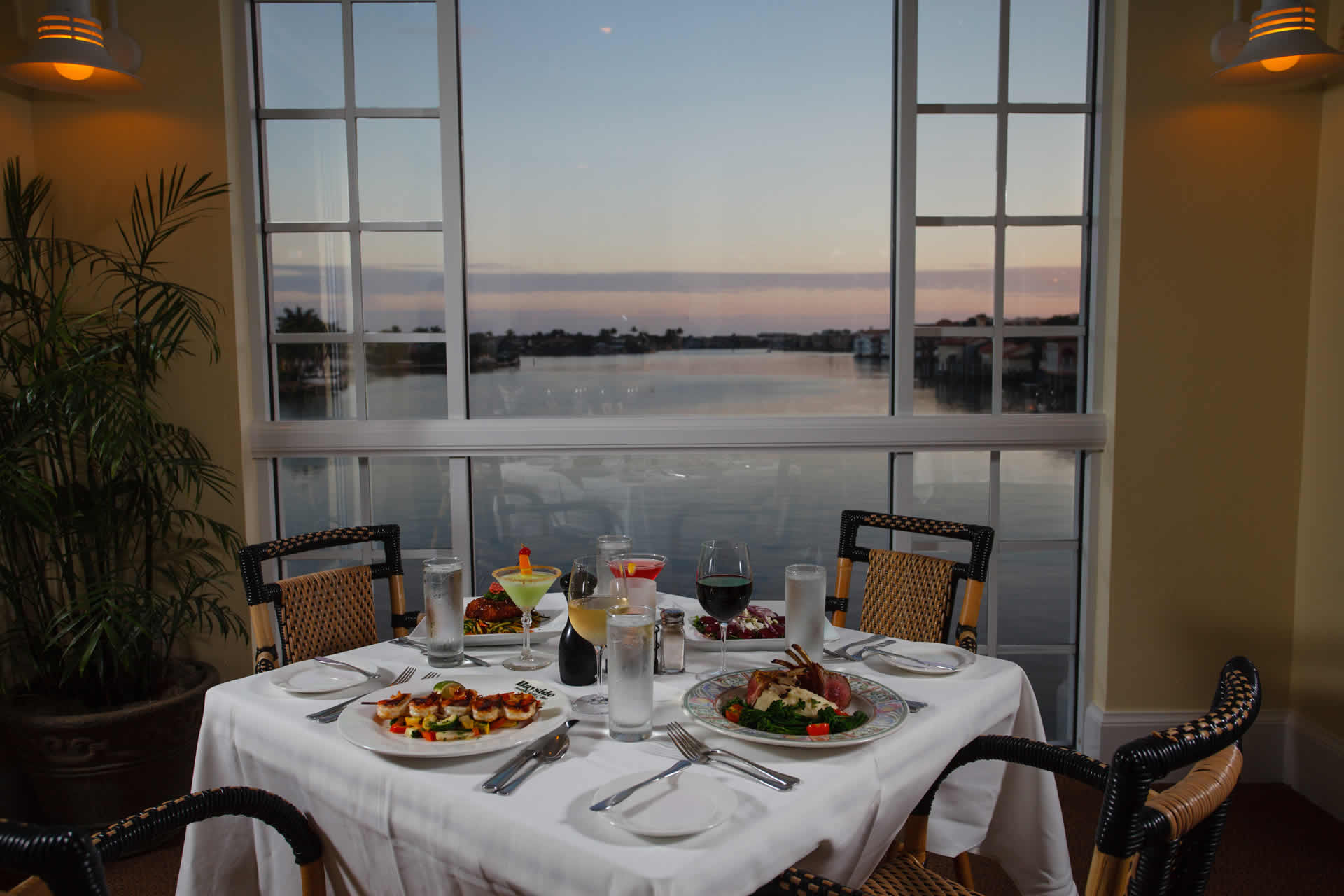 Dinner Table at Bayside Overlooking Bay