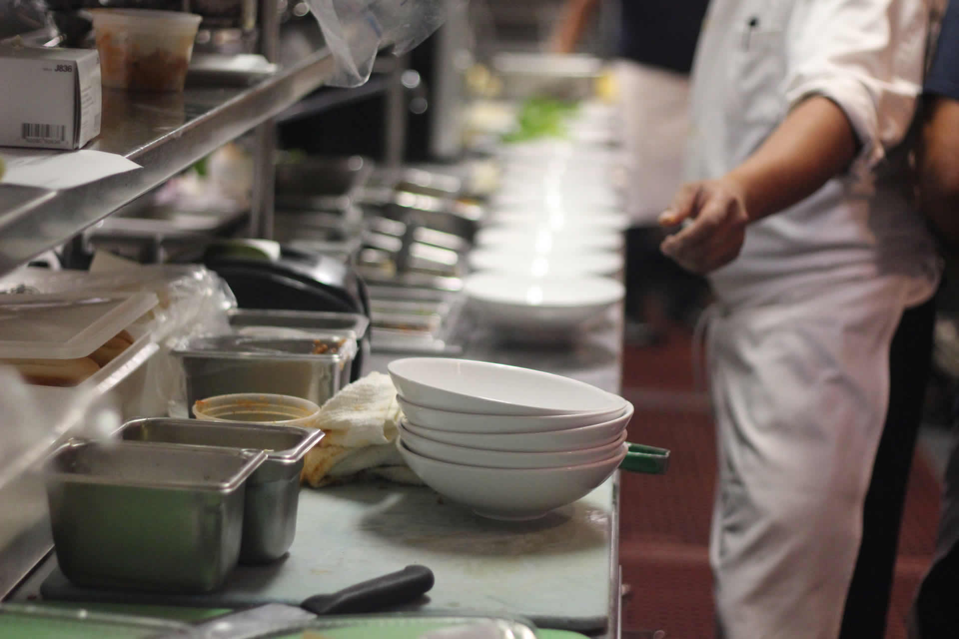 Row of Bowls for Plating at Bayside
