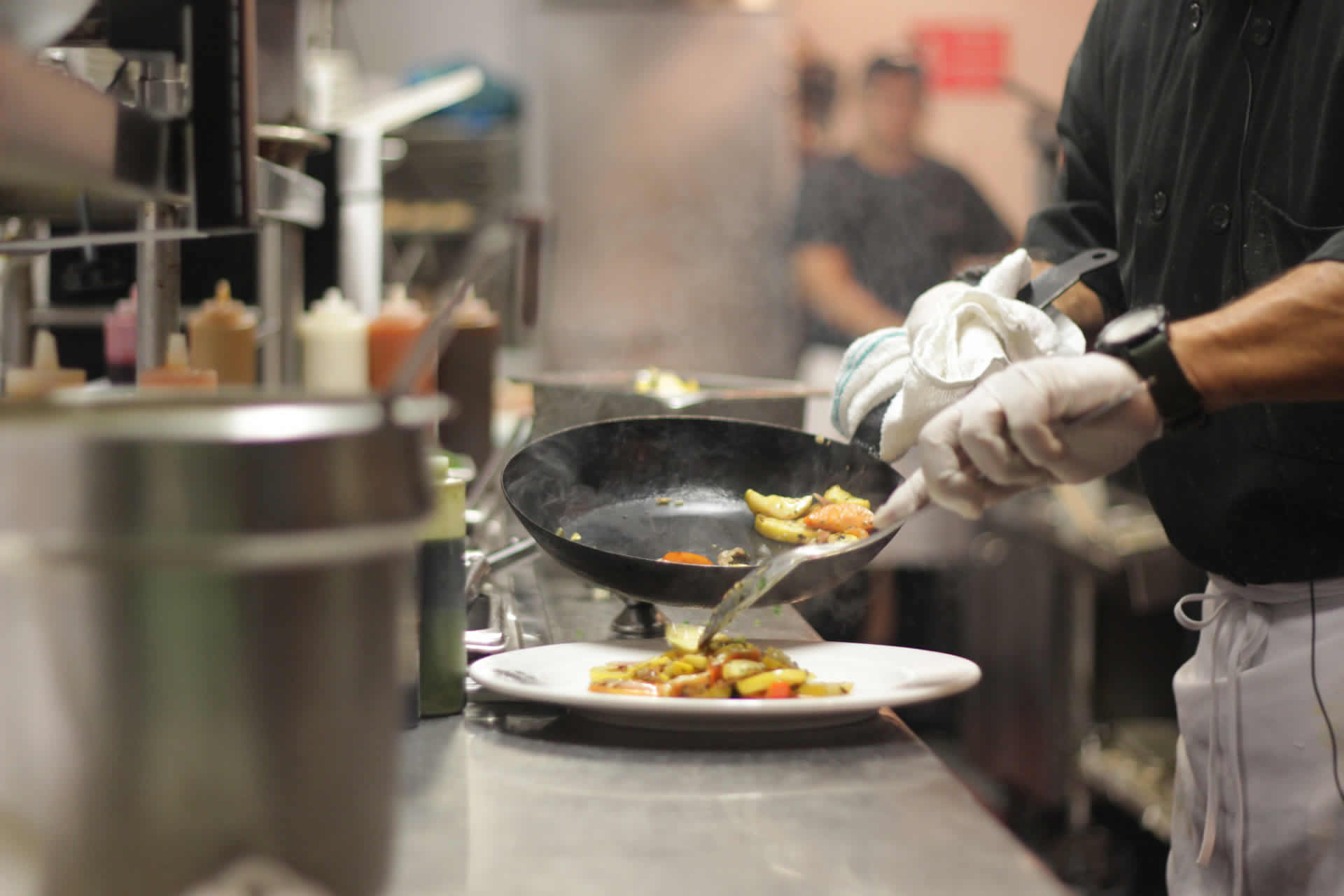 Chef at Bayside Plating Food