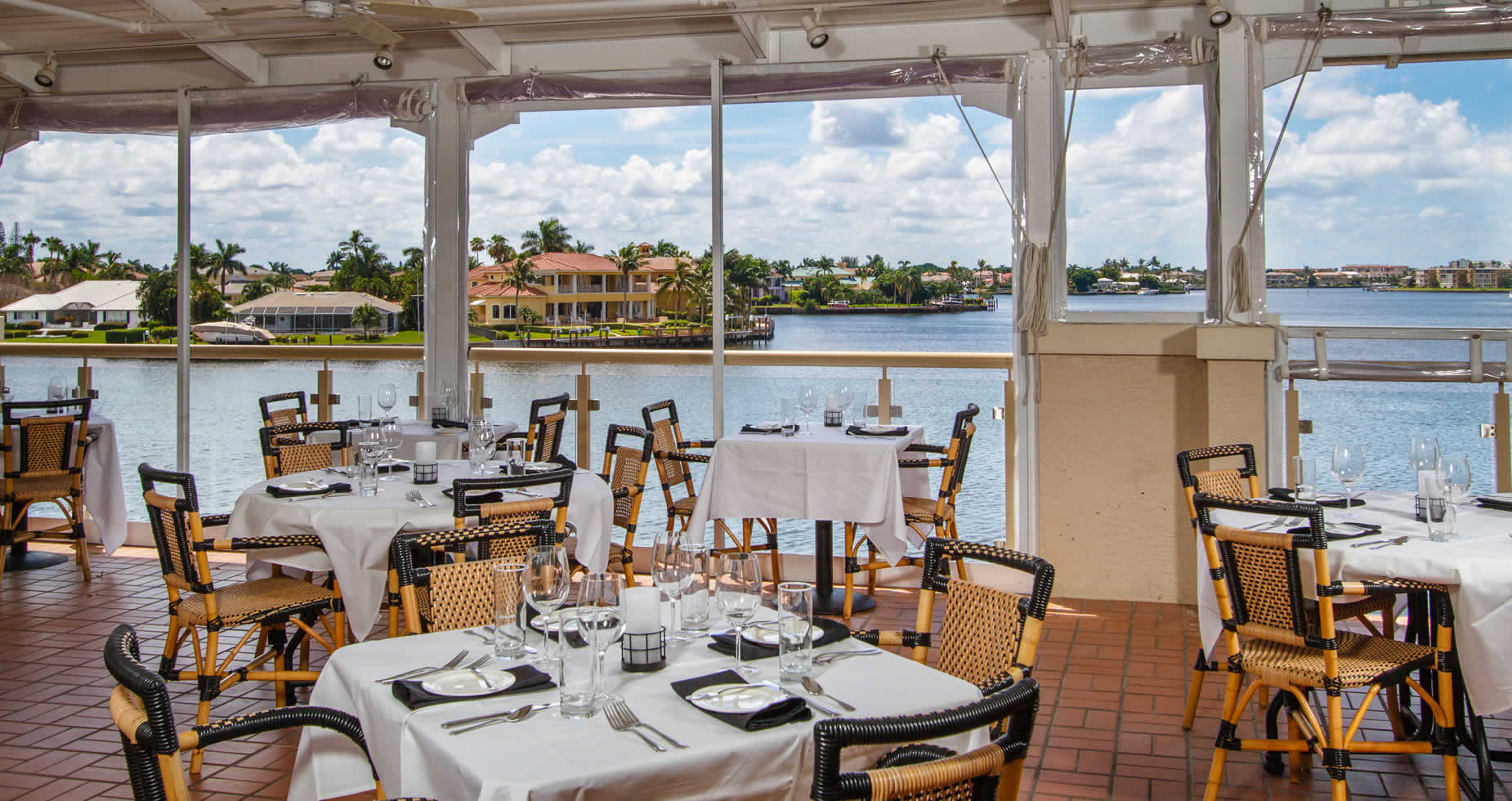 View from Covered Tables on Bayside's Upper Deck